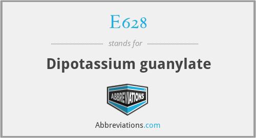 E628 - Dipotassium guanylate