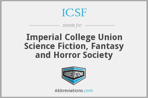 ICSF - Imperial College Union Science Fiction, Fantasy and Horror Society