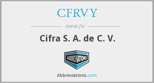 What does CFRVY stand for?