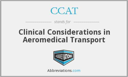 CCAT - Clinical Considerations in Aeromedical Transport