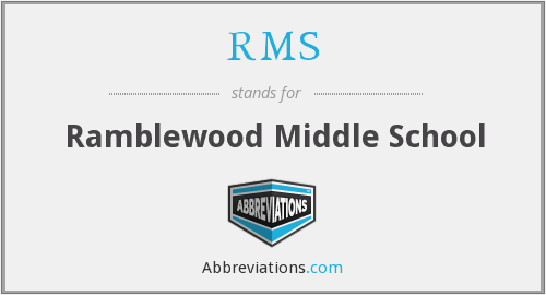RMS - Ramblewood Middle School