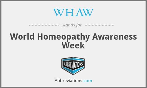 WHAW - World Homeopathy Awareness Week