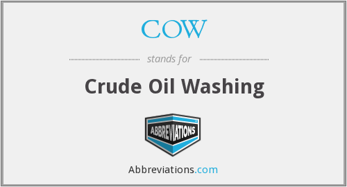 COW - Crude Oil Washing