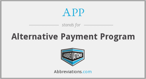 APP - Alternative Payment Program