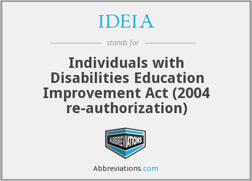 What does IDEIA stand for?