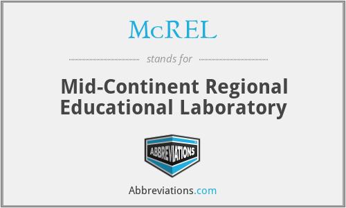 McREL - Mid-Continent Regional Educational Laboratory