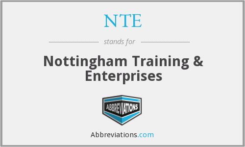 NTE - Nottingham Training & Enterprises