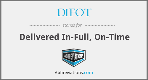 DIFOT - Delivered In-Full, On-Time