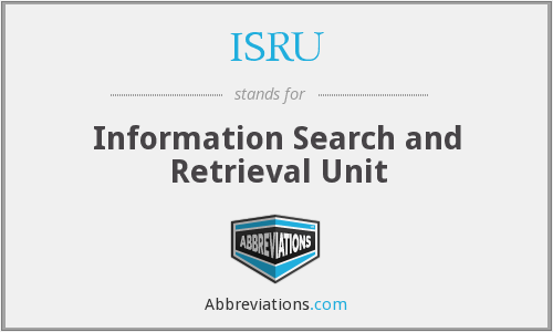 What does ISRU stand for?