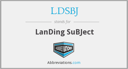 What does LDSBJ stand for?