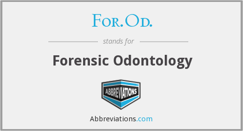 For.Od. - Forensic Odontology