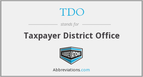 TDO - Taxpayer District Office