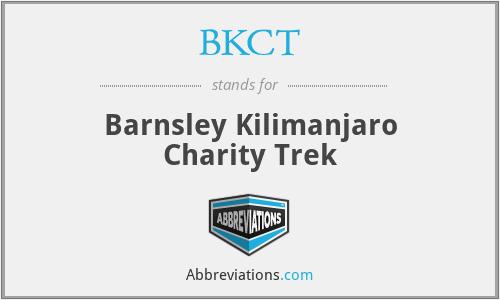 BKCT - Barnsley Kilimanjaro Charity Trek