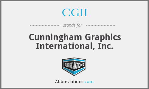 CGII - Cunningham Graphics International, Inc.