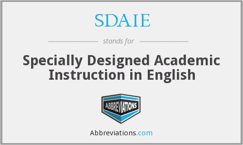Sdaie Specially Designed Academic Instruction In English
