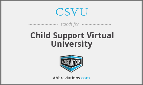 CSVU - Child Support Virtual University