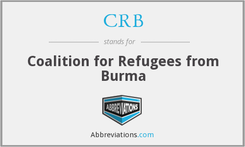 CRB - Coalition for Refugees from Burma