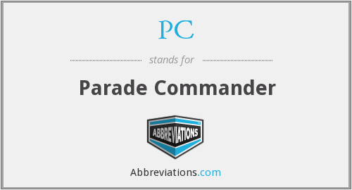 PC - Parade Commander