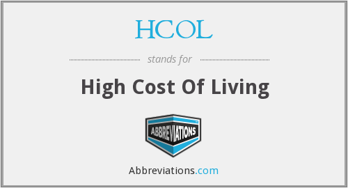 HCOL - High Cost Of Living
