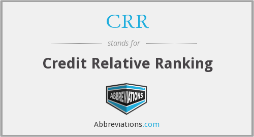 CRR - Credit Relative Ranking