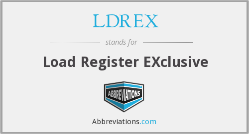 What does LDREX stand for?