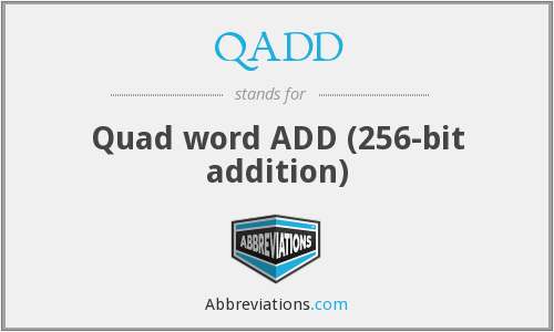 QADD - Quad word ADD (256-bit addition)