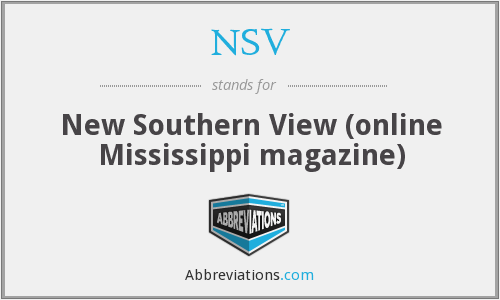 NSV - New Southern View (online Mississippi magazine)