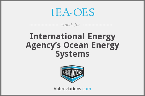 What does IEA-OES stand for?