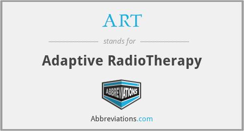 ART - Adaptive RadioTherapy