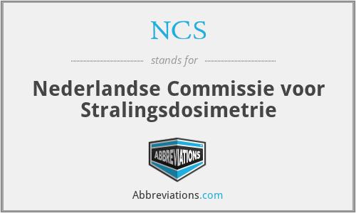 NCS - Nederlandse Commissie voor Stralingsdosimetrie