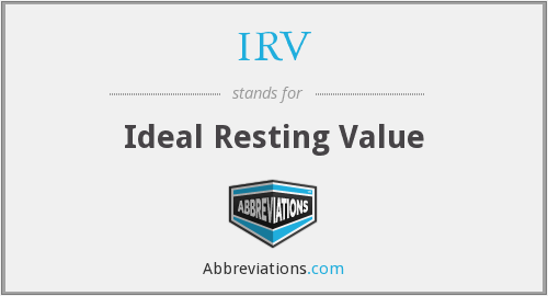 IRV - Ideal Resting Value