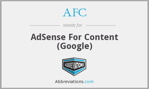 AFC - AdSense For Content (Google)