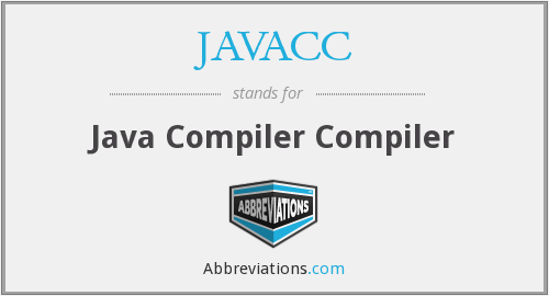 What does JAVACC stand for?