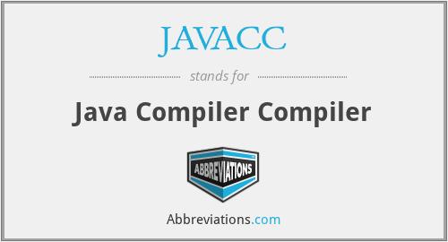 JAVACC - Java Compiler Compiler