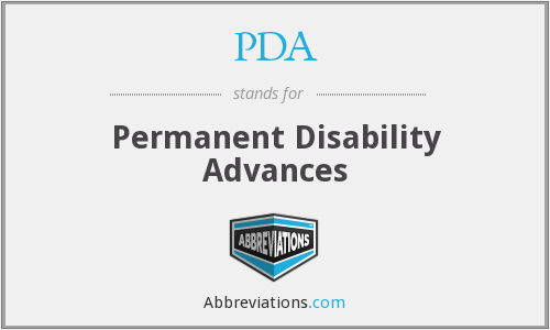 PDA - Permanent Disability Advances