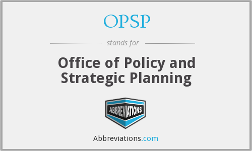 What does OPSP stand for?