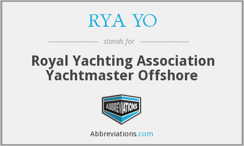 What does RYA YO stand for?
