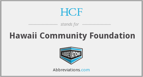 HCF - Hawaii Community Foundation