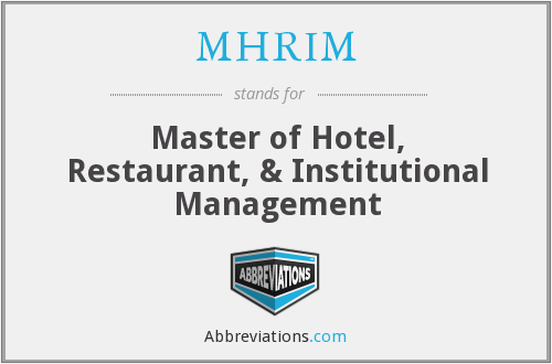 What does MHRIM stand for?