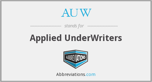 AUW - Applied UnderWriters