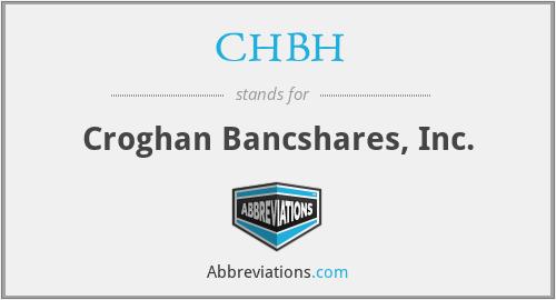 CHBH - Croghan Bancshares, Inc.