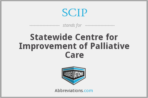 SCIP - Statewide Centre for Improvement of Palliative Care