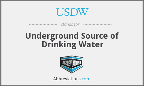 USDW - Underground Source of Drinking Water