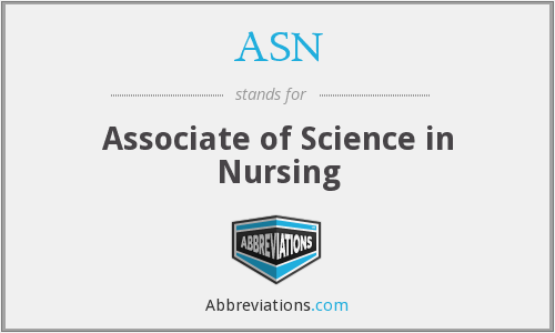 ASN - Associate of Science in Nursing