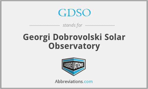 GDSO - Georgi Dobrovolski Solar Observatory