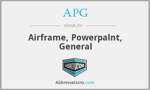 APG - Airframe, Powerpalnt, General