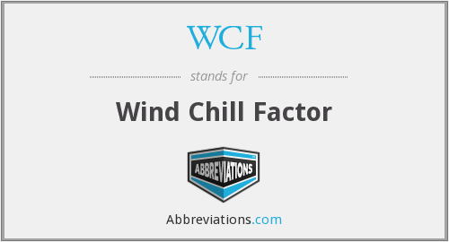 WCF - Wind Chill Factor