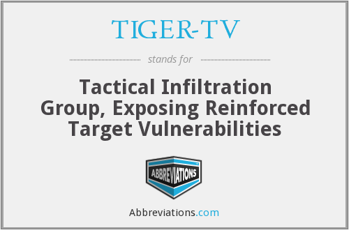 TIGER-TV - Tactical Infiltration Group, Exposing Reinforced Target Vulnerabilities