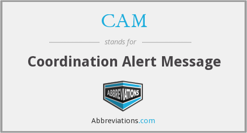 CAM - Coordination Alert Message
