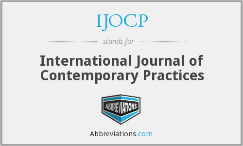 IJOCP - International Journal of Contemporary Practices